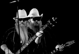 ZZ Top - Hill and Gibbons in 1983.