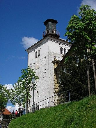 Lotrščak Tower - Image: Zagreb Lotrščak Tower 1