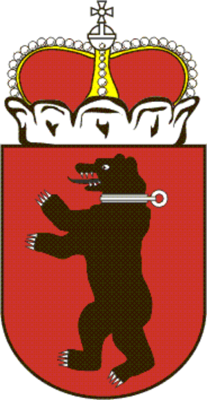 Duchy of Samogitia - The attacking Bear, the historical Coat of Arms of Samogitia