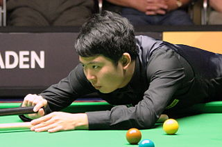 Zhang Anda Chinese snooker player