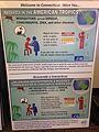 Zika outreach poster at Bradley International Airport - Baggage carousel poster (27635349881).jpg