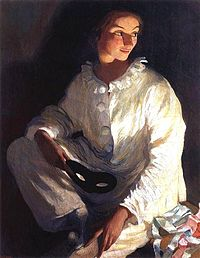 Zinaida Serebryakova - self-portrait as Piero (1911).jpg