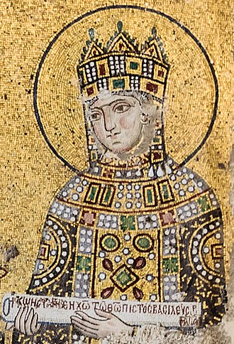 Zoë Porphyrogenita - Empress Zoë as depicted in a mosaic from the Hagia Sophia