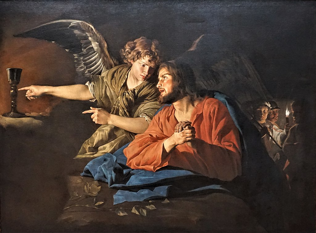 """Christ on the Mount of Olives"" by Matthias Stom - Gemäldegalerie"