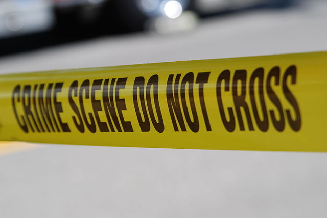 .Crime Scene Do Not Cross. tape, From WikimediaPhotos