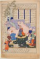 """Luhrasp Hears from the Returning Paladins of the Vanishing Kai Khusrau"", Folio from a Shahnama (Book of Kings) of Firdausi MET DP215765.jpg"