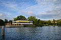 'Lake Side Casino Zürichhorn' und Strandbad 'Tiefenbrunnen' am Zürichhorn, Ansicht von der Schifflände der Zürichsee-Schifffahrtsgesellschaft (ZSG) 2013-09-19 17-49-16.JPG