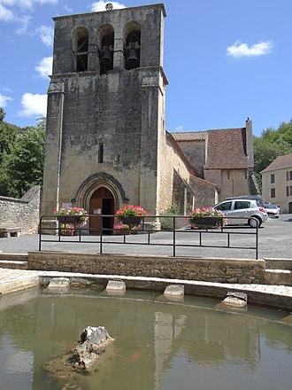 Campagne, Dordogne - Image: Église Saint Jean Baptiste de Campagne