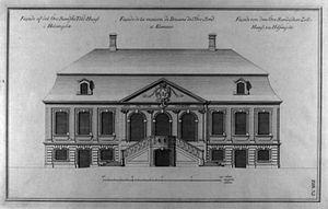 Helsingør Custom House - Øresund Custom House, illustration from Lauritz de Thurah's Den Danske Vitruvius