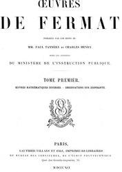 Pierre de Fermat: Œuvres de Fermat