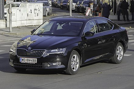 Skoda Auto is one of the largest car manufacturers in Central Europe. A Skoda Superb is pictured. Skoda Superb III 02.12.17 JM.jpg