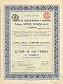 Акция (1912) общества Альберт Невъ, Вильдъ и Ко въ Таганрогѣ.jpg