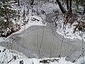 Замерзший ручей в Балатовском лесу, конец ноября 2011 - panoramio.jpg