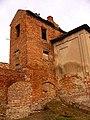 Замок, руїни південно-західної вежі. До реставрації.jpg