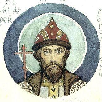 Andrey Bogolyubsky - Grand Prince St. Andrei Bogolyubsky, by Viktor Vasnetsov