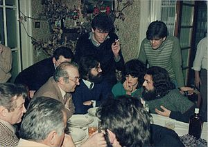 Vuk Drašković - Drašković with his wife Danica and Soviet-turned-Swiss chess grandmaster Viktor Korchnoi during an Orthodox Christmas eve party in January 1984 at Villa Dragoslava, a villa in the Belgrade neighbourhood of Banovo Brdo that often served as meeting point for individuals critical of SFR Yugoslavia's system of governance as well as communism and socialism in general.