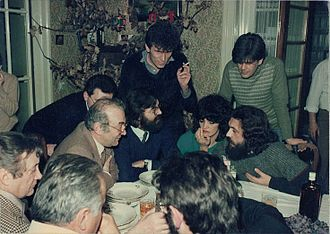Vuk Drašković - Drašković with his wife, Danica, and Soviet-turned-Swiss chess grandmaster Viktor Korchnoi during an Orthodox Christmas eve party in January 1984 at Villa Dragoslava, a villa in the Belgrade neighbourhood of Banovo Brdo that often served as meeting point for individuals critical of SFR Yugoslavia's system of governance as well as communism and socialism in general.