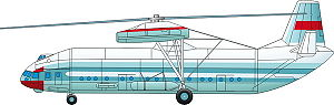 Mil V-12 - Side view illustration