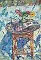 Натюрморт со столиком из лозы. Холст, масло. 94х64. 2007.jpg
