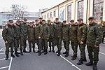 Президент України Петро Порошенко привітав молодих офіцерів з випуском 706 (16944422042).jpg