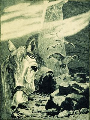 Svyatogor - Svyatogor by Andrei Ryabushkin, 1895.