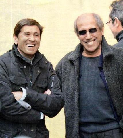 Адриано Челентано и Джанни Моранди, 14 февраля 2012 года