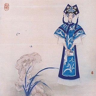 Chinese manchu Shunzhi emperor concubine under Qing Dynasty