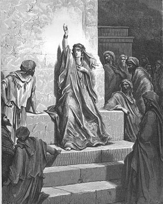 Deborah - Deborah portrayed in Gustave Doré's illustrations for ''La Grande Bible de Tours'' (1865)