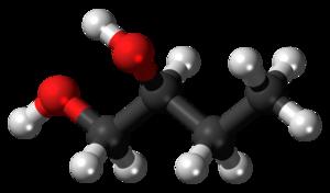 1,2-Butanediol - Image: 1,2 Butanediol 3D balls 2