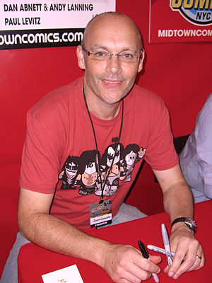 Andy Lanning - Lanning at the New York Comic Con in Manhattan, 10 October 2010.