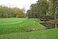 12th green and water hazard, Earl's Course, The Warwickshire - geograph.org.uk - 1579049.jpg