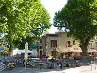 133 Saint-Martin-de-Londres La place des platanes.JPG