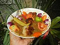 1393Mung bean soup and siomai in bilimbi, tomatoes, chili and onions 04.jpg
