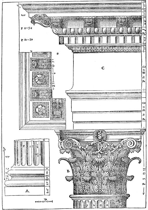 13 - palladio capitello 1570, By Fuzo at it.wikipedia (Transferred from it.wikipedia) [Public domain or Public domain], from Wikimedia Commons