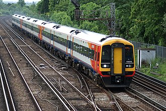 South Western Railway (train operating company) - Image: 159015 and Partners at Wimbledon