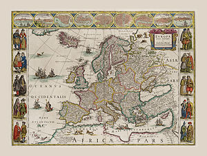 Willem blaeu wikipedia blaeus 1630 map of europe publicscrutiny Images