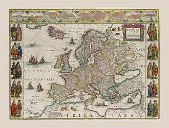 Willem Blaeu - Blaeu's 1630 map of Europe