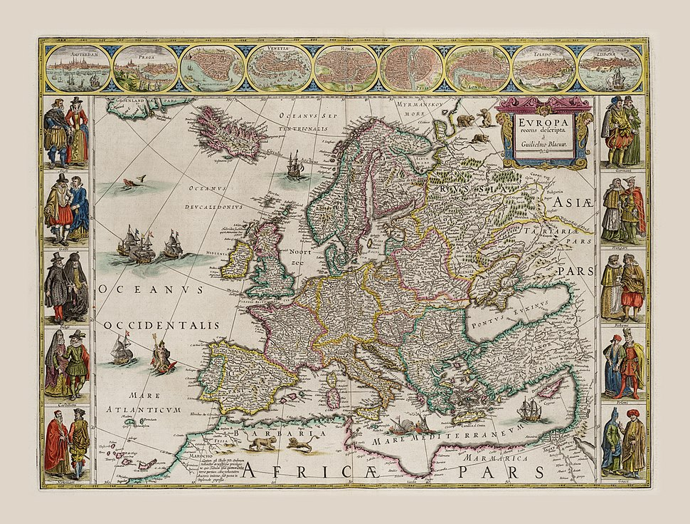 1644 Europa Recens Blaeu