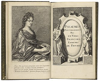Élisabeth Sophie Chéron - The title page of a 1694 edition of Cheron's translation of the Psalms into French.