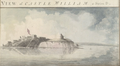 1773 CastleWilliam2 BostonHarbor byPierie BritishLibrary.png