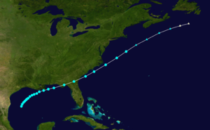 1868 Atlantic hurricane season - Image: 1868 Atlantic tropical storm 2 track