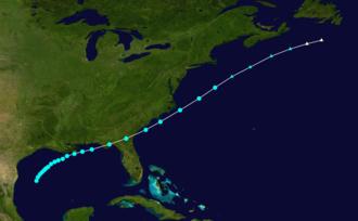 1868 Atlantic hurricane season - Image: 1868 Atlantic tropical storm 2 track