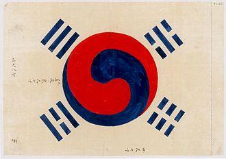 Flag of North Korea - Image: 1882년 11월작 태극기