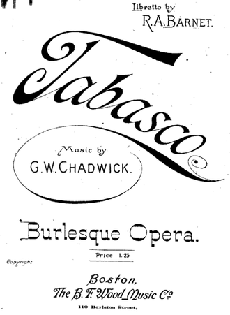 Robert Ayres Barnet - Image: 1894 Tabasco BF Wood Music Co Boston