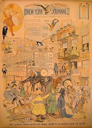 History of American comics - The Yellow Kid published in the New York Journal from 8 November 1896.