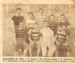 13fe2e282e Integrantes da equipe de remo do Flamengo em 1896.