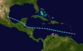 1917 Atlantic tropical storm 1 track.png