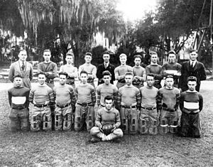 J. Rex Farrior - 1920 Gainesville High football team. Farrior is back left.