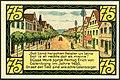 1921-06-01 Gutschein der Stadt Eldagsen, 0,75 Mark 75 Pfennig, gültig bis 1. Februar 1922, b, Lange Straße mit Rathaus und Postgebäude.jpg