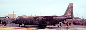195th Fighter Squadron - 1972 photo of 195th TAS C-130A 56-0468 in Alaska